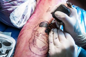 Making a Skull Tattoo