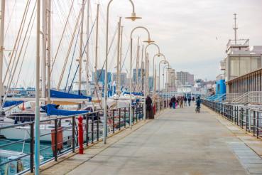 Marina in the Genoa Italy