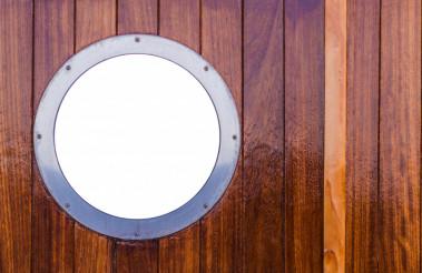 Marine Window in Wooden Wall