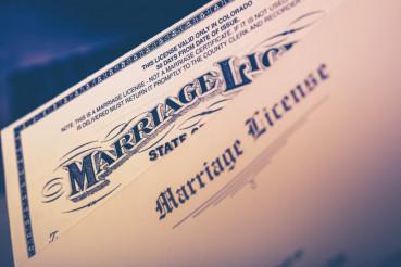 Marriage License Closeup