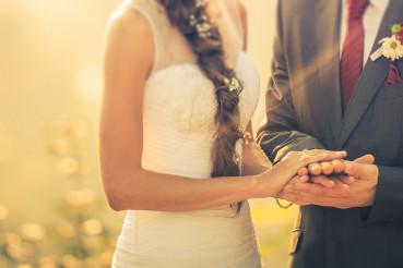 Married Couple Wedding Day