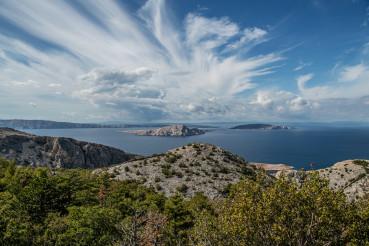 Mediterranean Sea Croatian Islands Panorama