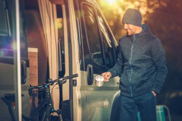 Men and His Camper Van