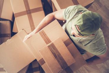 Men Carrying Moving Box