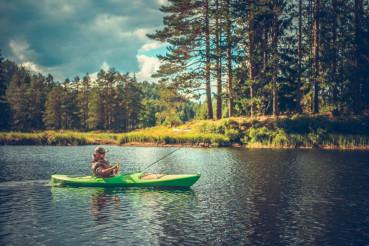 Men Fishing From a Kayak