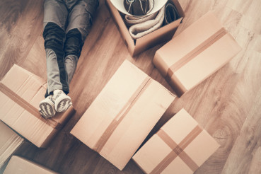 Men Moving to Apartment