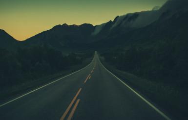 Midnight Lofotens Road Drive