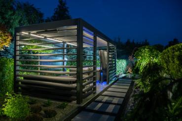 Modern Backyard SPA Shelter Bower