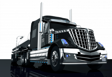 Modern Black Semi Truck PNG Illustration