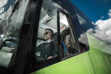 Modern Bus Coach Driver Job