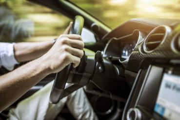 Modern Car Driving Concept