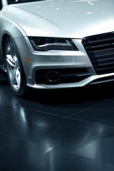 Modern Car on Glassy Floor