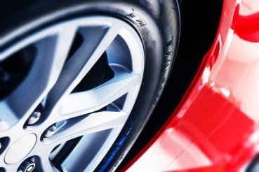 Modern Car Wheel Closeup