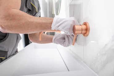 Modern Design Copper Faucet Installation