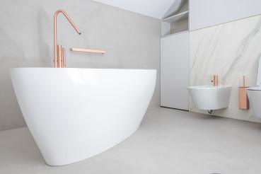 Modern Elegant Bathtub and Bathroom Interior