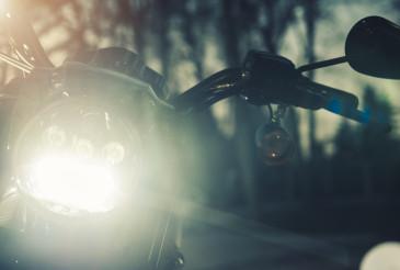 Modern Motorcycle Front LED Light Illumination