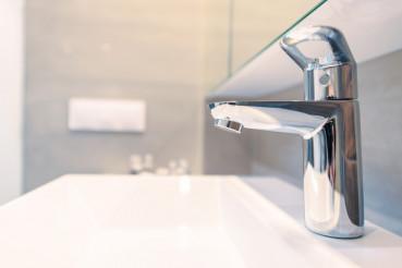 Modern Sink Faucet Closeup