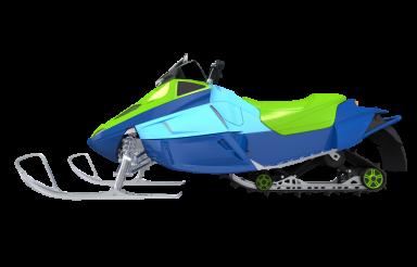 Modern Snowmobile Illustration