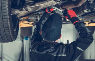 Modern SUV Car Suspension Maintenance