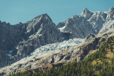 Mont Blanc Massif Glacier Scenic Summer Landscape