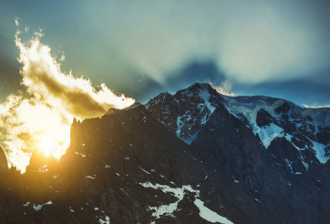 Mont Blanc Sunset Scenery