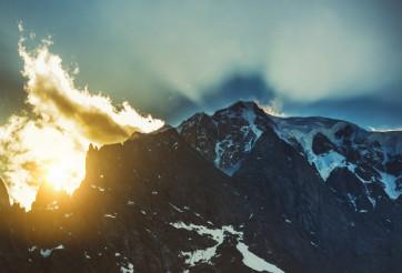 Mont Blanc Sunset Scenery