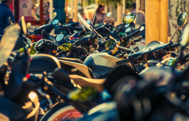 Motorcycle Parking in France