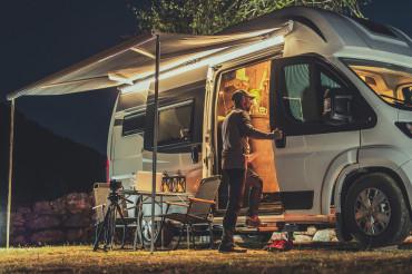 Motorhome RV Park Camping