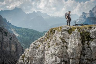 Mountain Biker in Dolomites