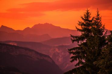 Mountains Sunset Background