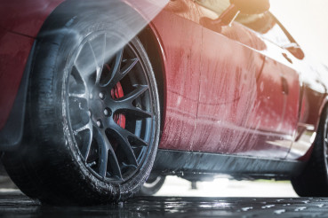 Muscle Car in a Car Wash