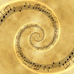 Music Spiral Concept Backdrop