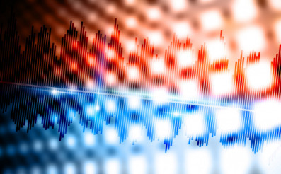 Music Waves Background