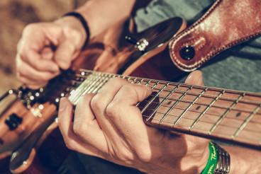 Musician Playing Electric Guitar