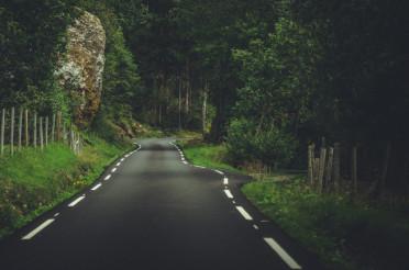 Narrow Norwegian Road