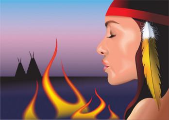 Native American Girl Vector