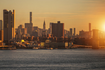 New York Skyline Sunrise