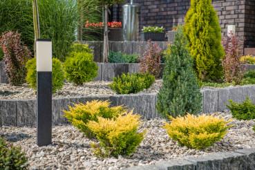 Newly Built Modern Backyard Garden