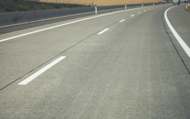 Newly Constructed Modern Two Lanes Highway