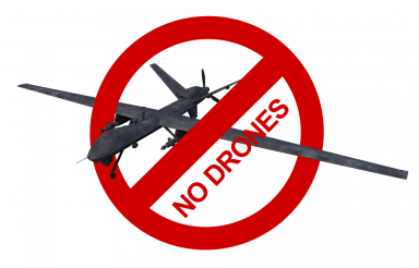 No Drones Allowed Sign