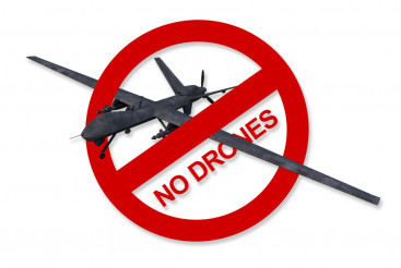No Drones Sign Isolated