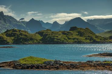 Nordland County Lofoten Distinctive Scenery During Summer