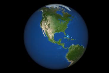 North America PNG Globe