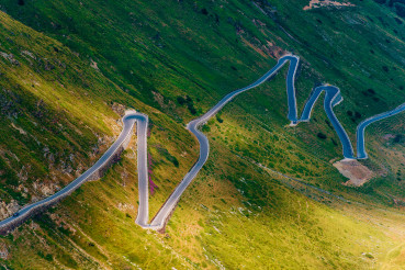 Northern Italy Stelvio Pass Winding Road