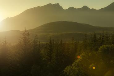 Northern Lofoten Sunset Warm Landscape