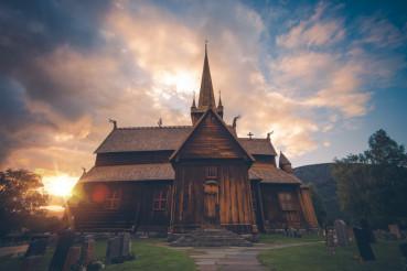 Norwegian Lom Stave Church
