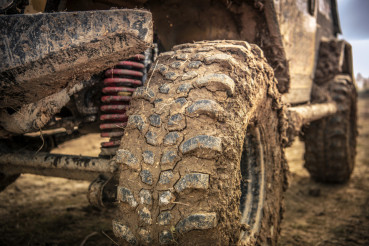 Off Roader Tire Closeup