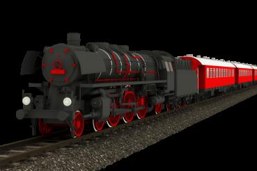 Old Locomotive Isolated