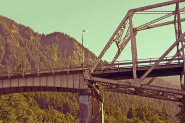 Old Metal Bridge in Oregon