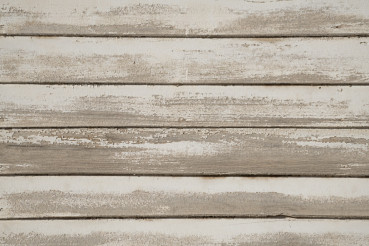 Old White Painted Wood Wall